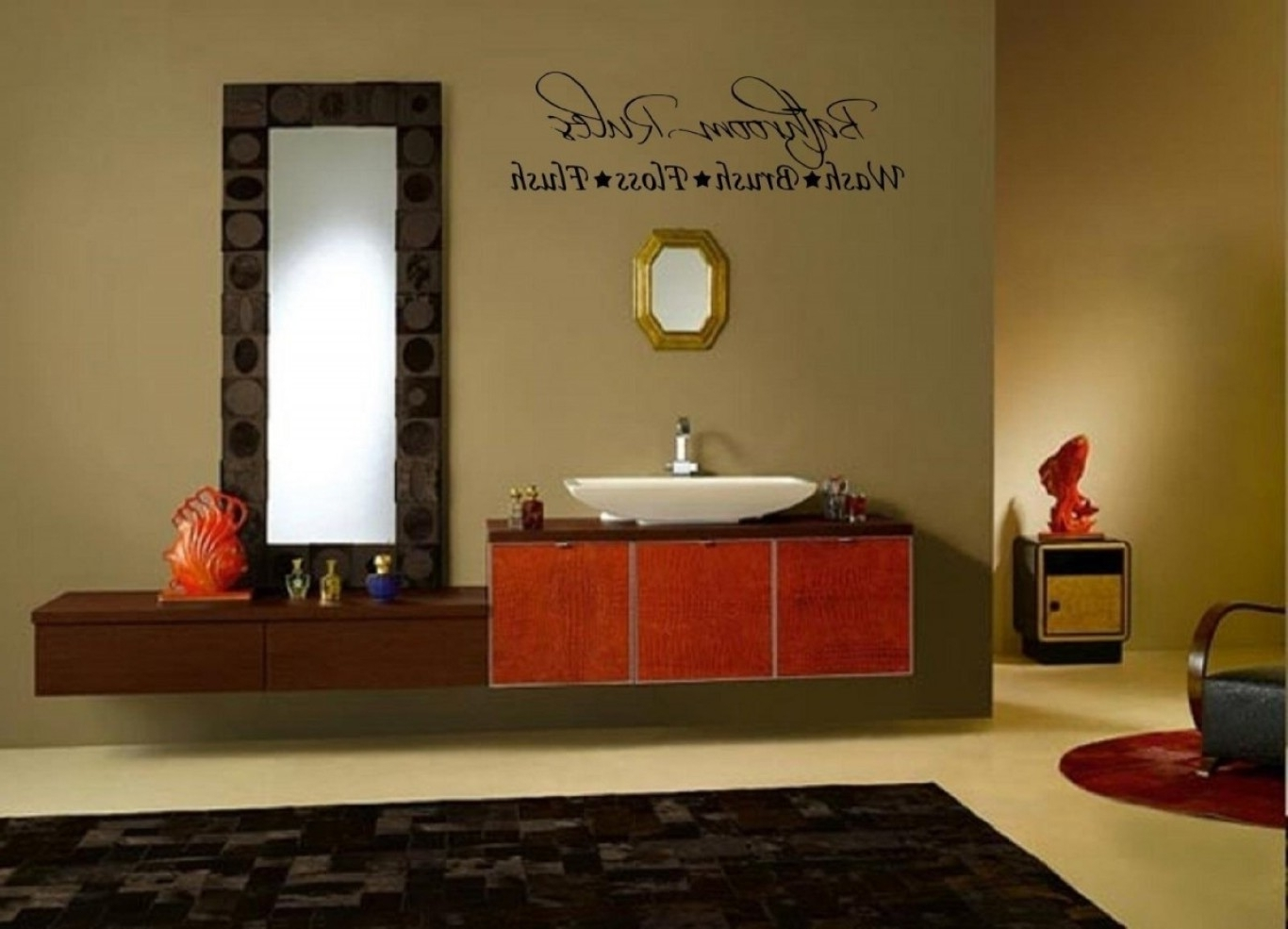 Bathroom Wall Decor Regarding Most Current Wall Accents For Bathroom (View 2 of 15)