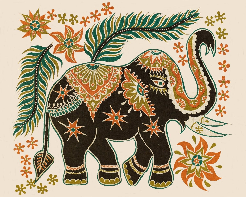 Batik Art, Art Tiles And Regarding Elephant Fabric Wall Art (Gallery 8 of 15)