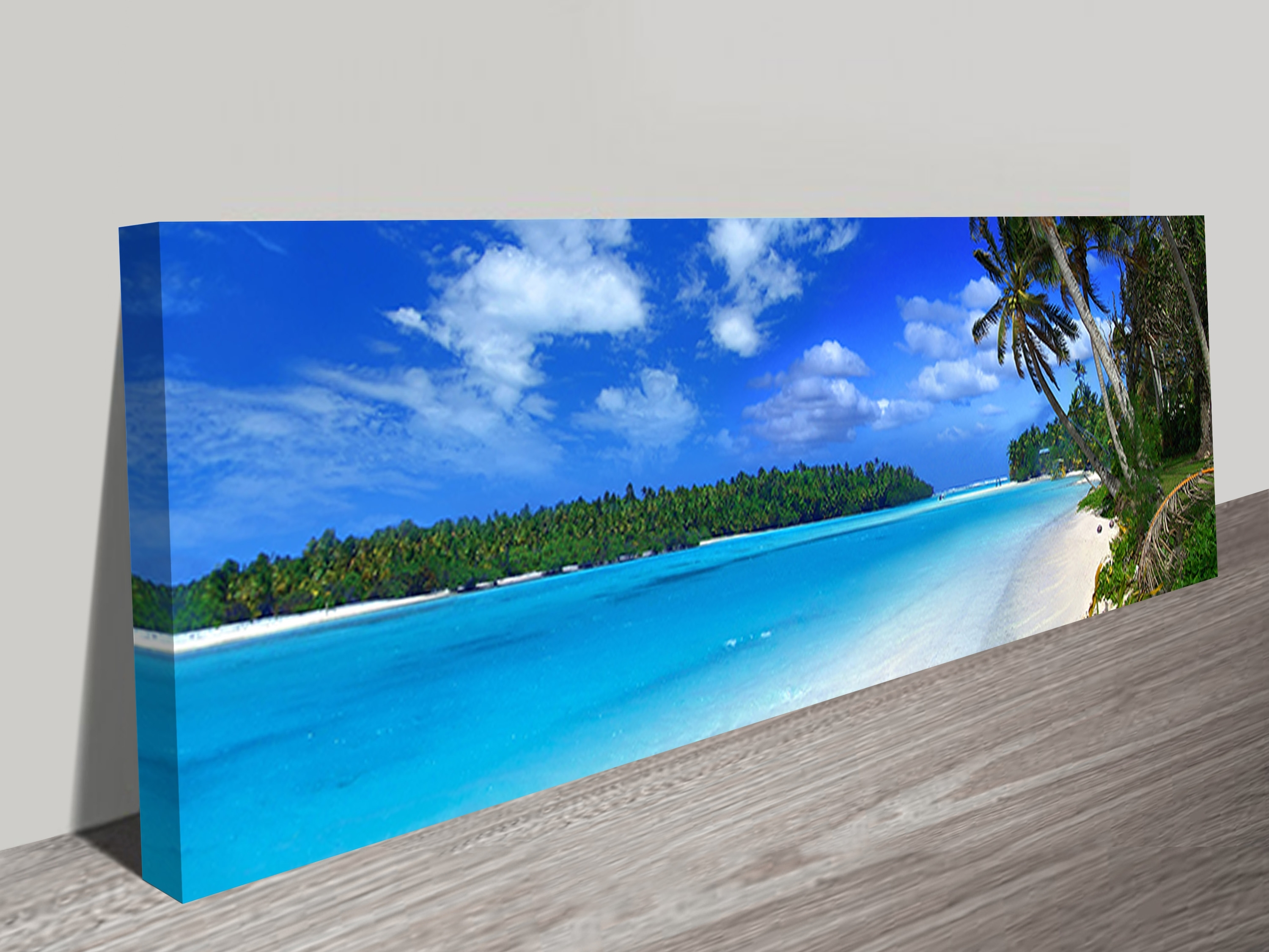 Beach Canvas Wall Art In Latest Amazing Beach Long Canvas Wall Art Panoramic Print (View 4 of 15)