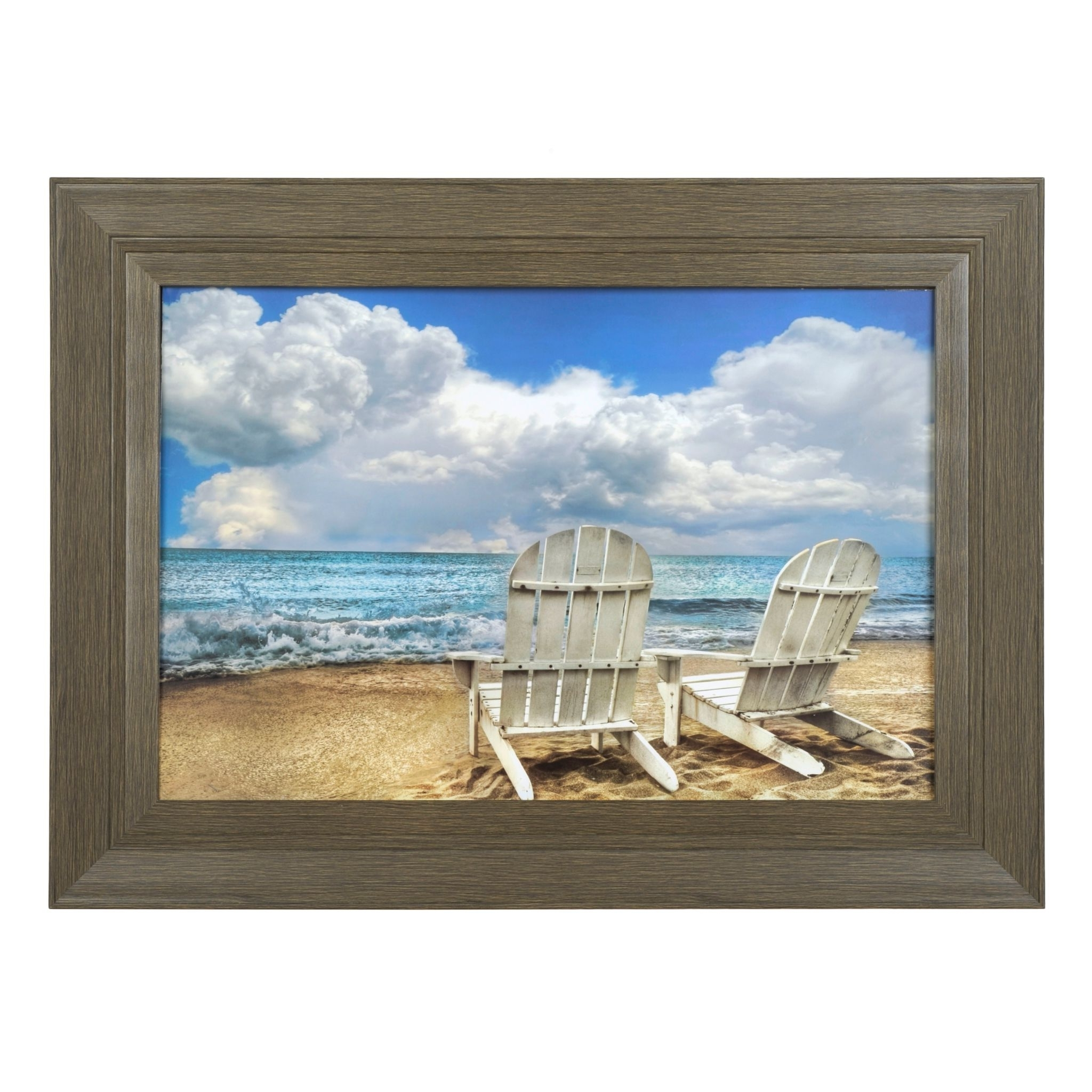 Beach Chairs Framed Art Print (View 3 of 15)