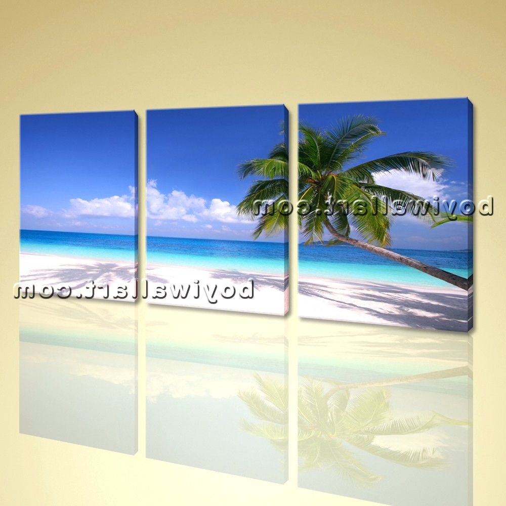 Beach Themed Canvas Wall Art Throughout Well Known Wall Arts ~ Beach Themed Canvas Prints Australia Beach Chairs (View 5 of 15)