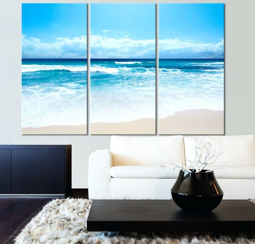 Beach Themed Canvas Wall Art With Famous Wall Arts ~ Beach Scene Wall Art Canvas Sunset Beach Canvas Art (View 6 of 15)
