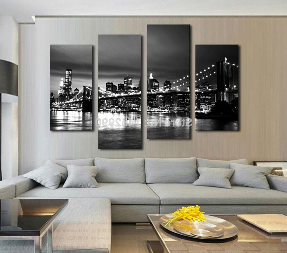 Bedroom Canvas Wall Art For Fashionable Shop Paintings Online, Hot Sell Modern Wall Painting New York (View 4 of 15)