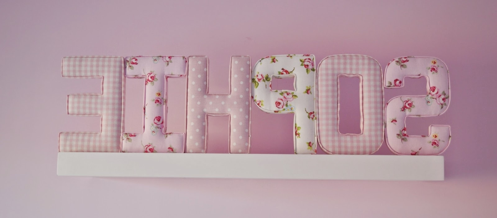 Featured Photo of Fabric Wall Art Letters