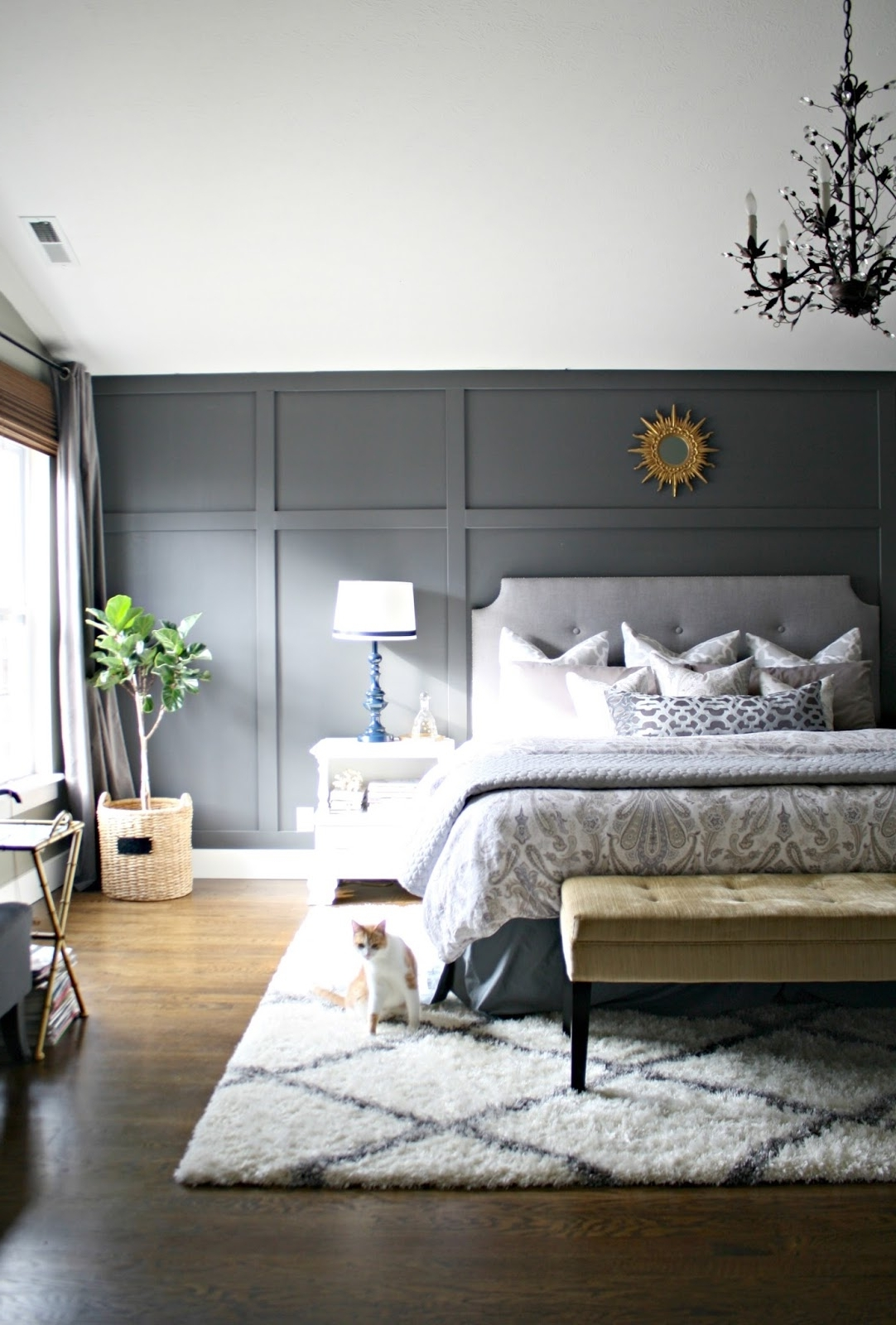 Bedroom Design: Cheap Wood Accent Wall Accent Wall Color Regarding Famous Gray Wall Accents (View 2 of 15)