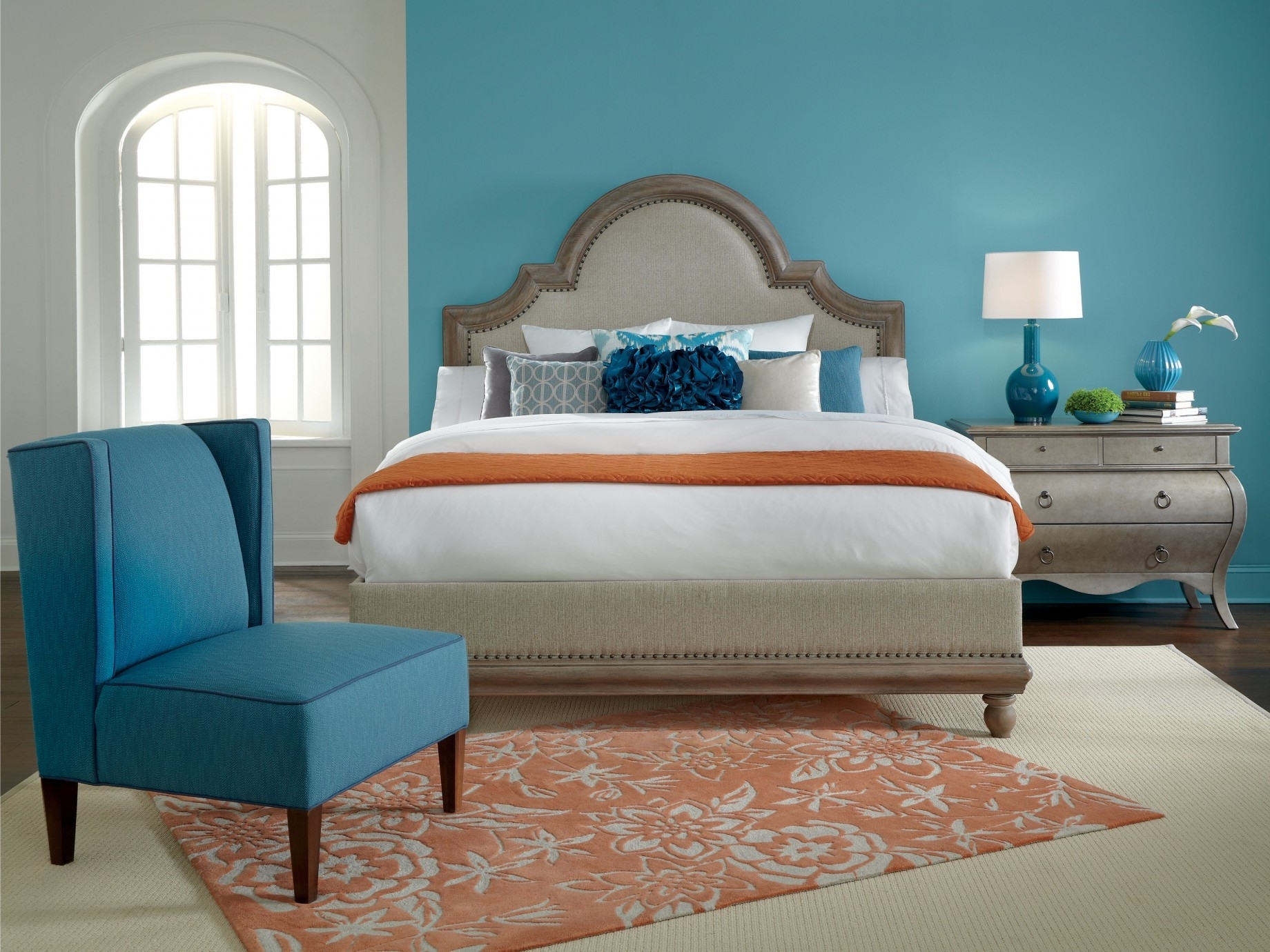 Bedroom Design: Feature Wall Paint Painting Accent Walls Accent For Best And Newest Wall Accents Color Combinations (View 2 of 15)