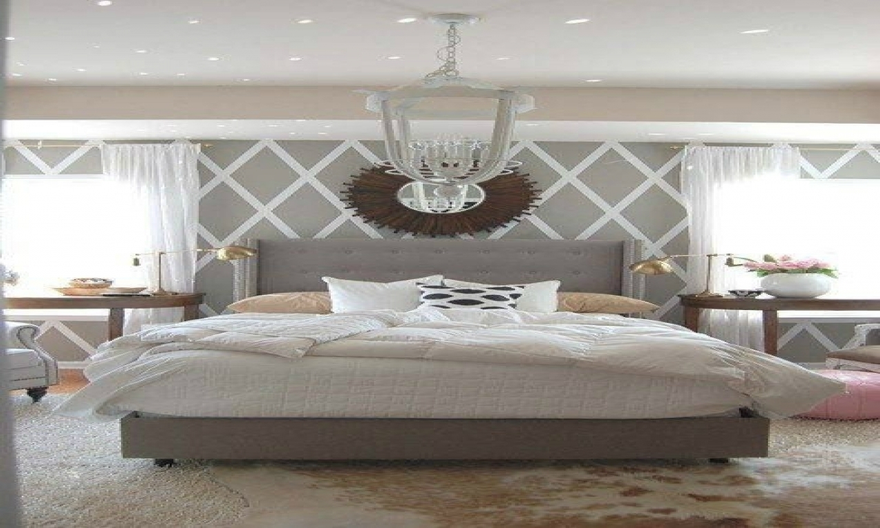 Bedroom Design: Simple Wall Decorating Ideas White Grey Bedroom With Preferred Wall Accents For Grey Room (Gallery 2 of 15)