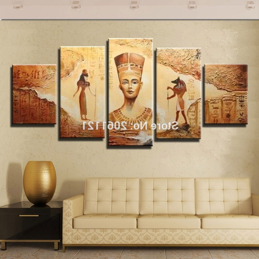 Best And Newest Buy Egyptian Art And Get Free Shipping On Aliexpress With Regard To Egyptian Canvas Wall Art (View 1 of 15)