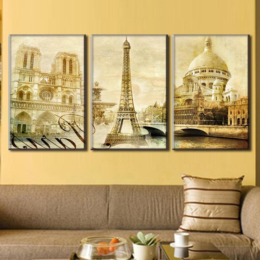 Best And Newest Canvas Wall Art Of Paris Throughout Wall Art. Amusing Paris Canvas Wall Art: Cool Paris Canvas Wall (Gallery 5 of 15)