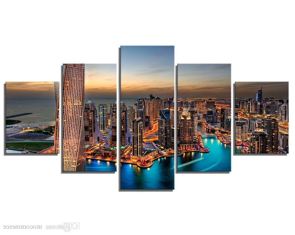 Best And Newest Dubai Canvas Wall Art For Modern Wall Art Painting Canvas Prints Frames Picture Of Dubai Uae (View 1 of 15)