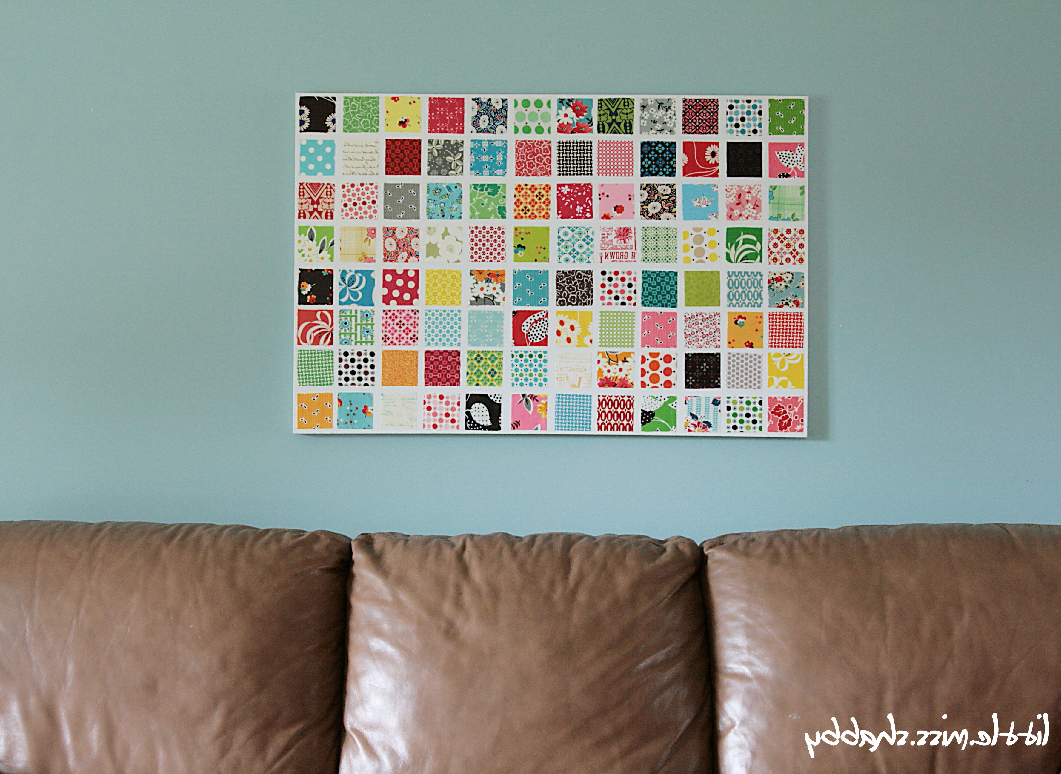 Best And Newest Fabric Wall Art – Coriander Quilts With Regard To Mod Podge Fabric Wall Art (View 2 of 15)