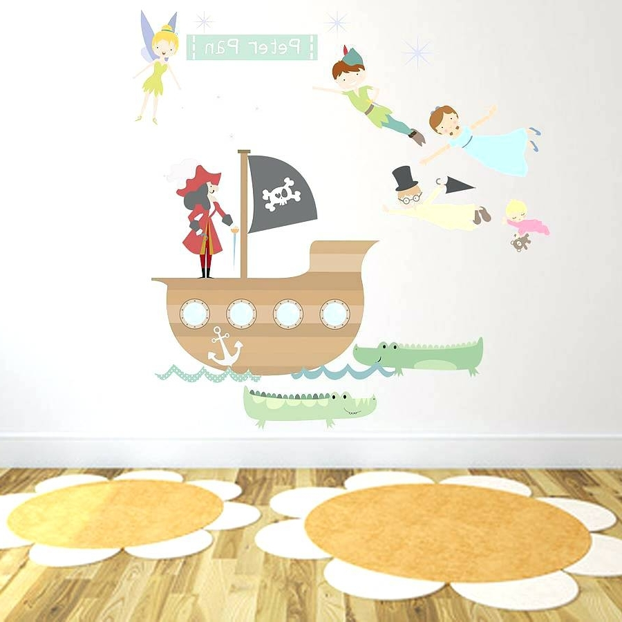 Best And Newest Fabric Wall Art Stickers Pertaining To Fabric Wall Decal Peter Pan Fabric Wall Stickerspeter Pan (View 3 of 15)