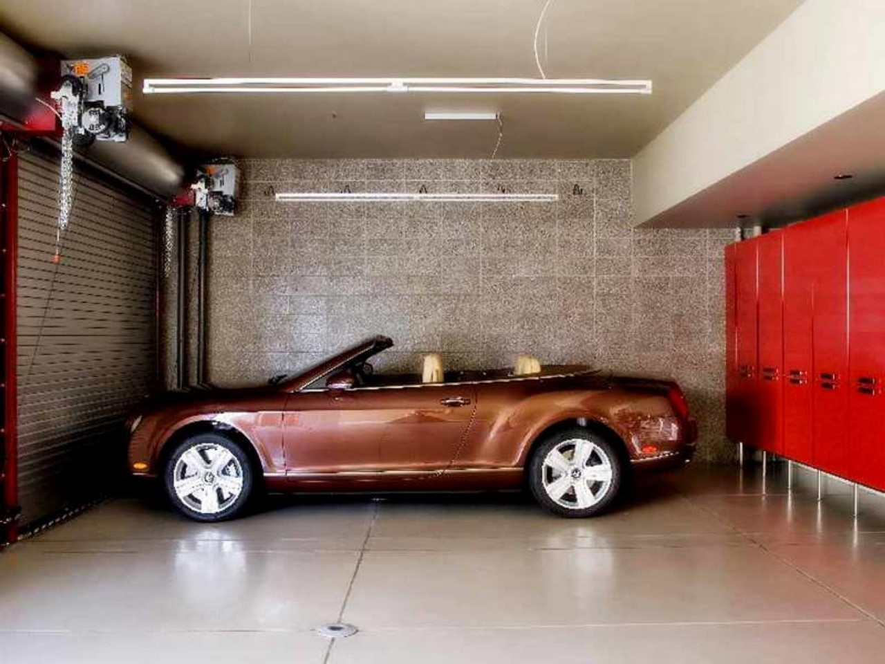 Best And Newest Garage Wall Accents Intended For Decorations : Classic Garage Idea With Brick Wall Accents Also (Gallery 7 of 15)