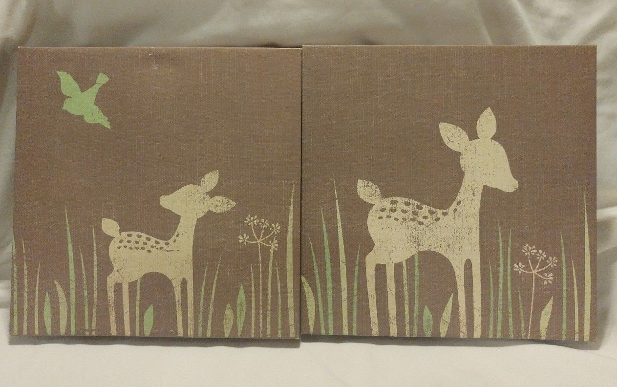 Best And Newest Kids Line Willow 2 Piece Organic Canvas Wall Art (View 3 of 15)