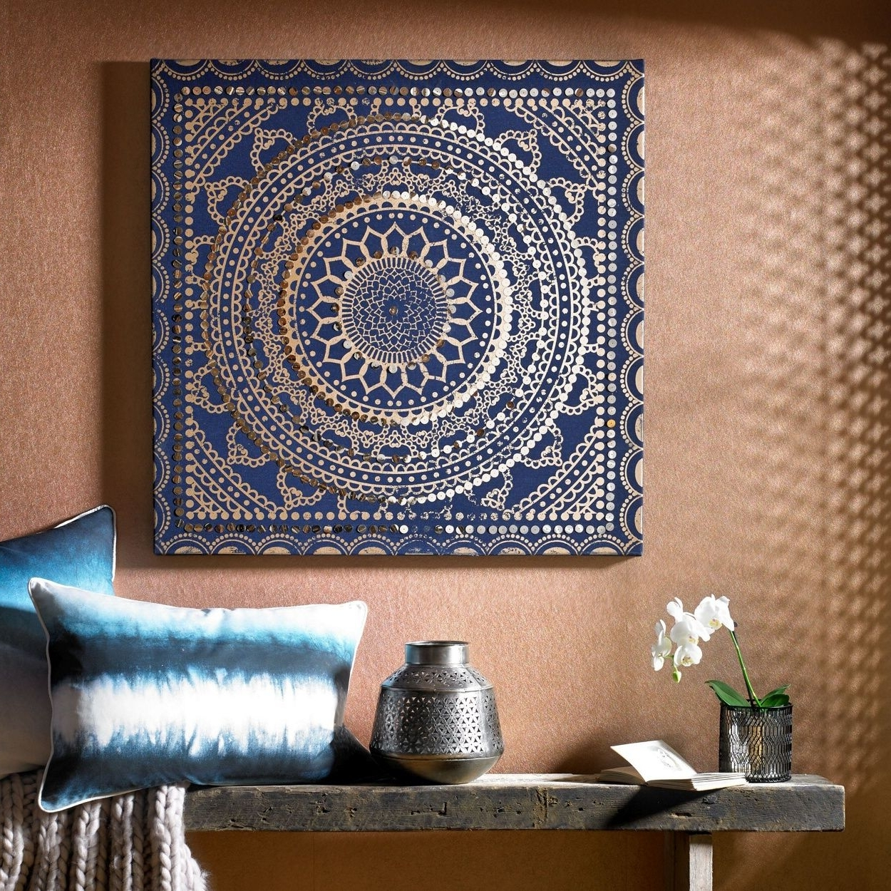 Best And Newest Make A Statement With This Moroccan Inspired Fabric Canvas (View 3 of 15)