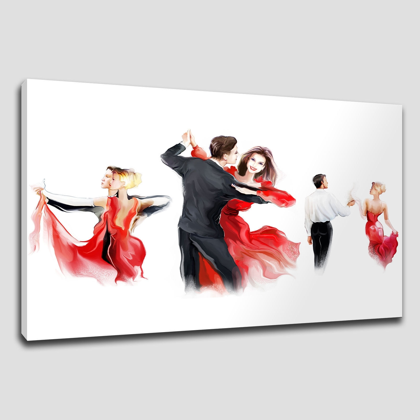Best And Newest Wall Art: Extraordinary Red Canvas Wall Art Wall Art In Red, Black Inside Large Red Canvas Wall Art (View 2 of 15)