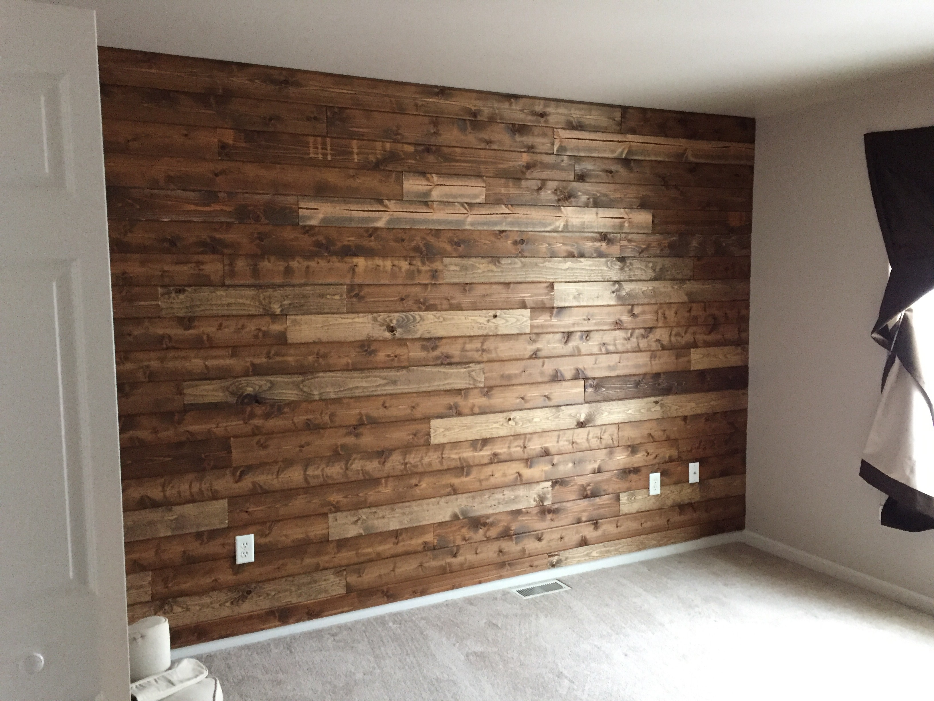 Best And Newest Wooden Accent Wall Tutorial Wood Accent Wall In Bathroom Accent For Wood Wall Accents (View 4 of 15)