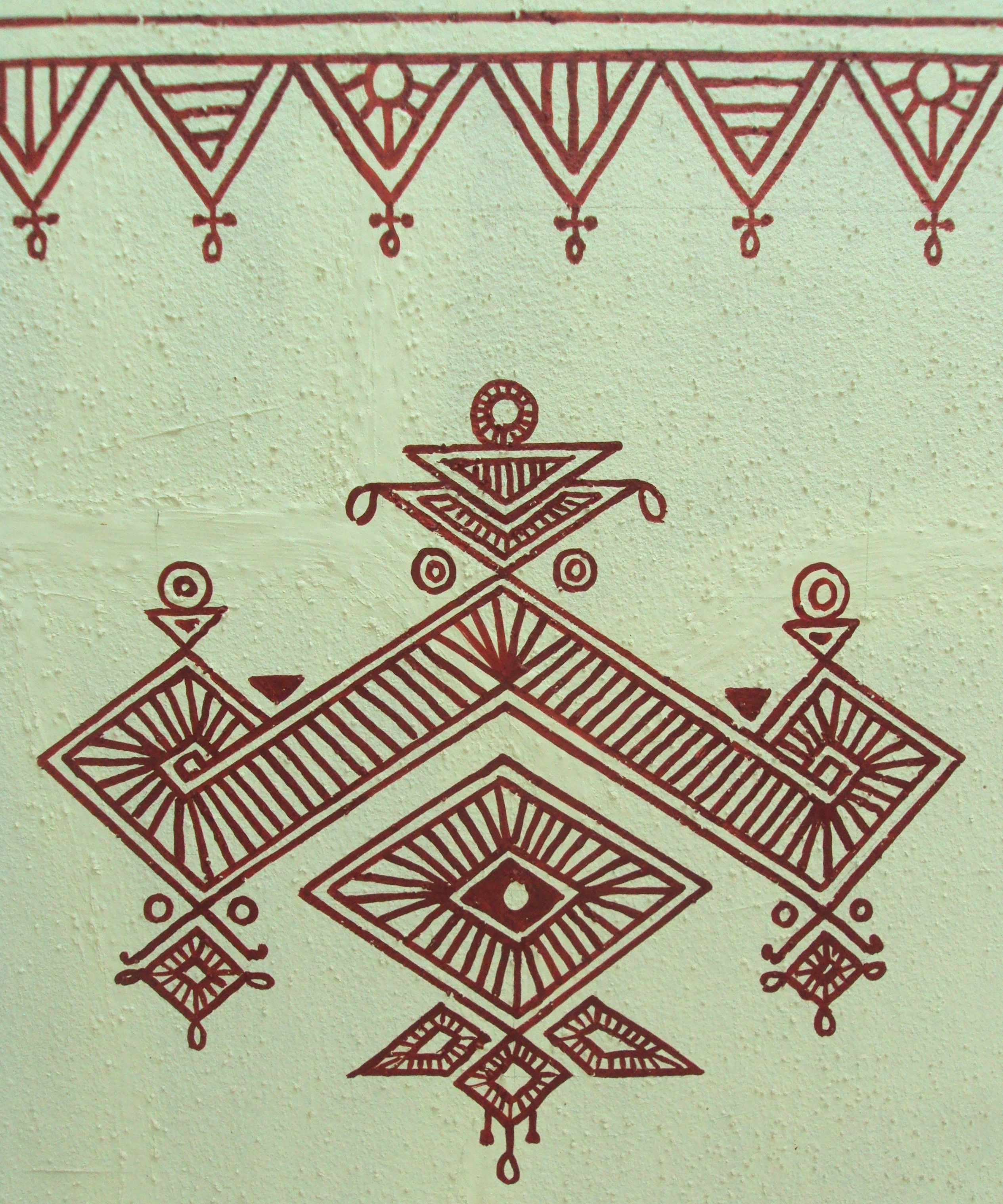 Bheenth Chitra – A Unique Indian Tribal Wall Art Style (step Regarding Newest Thai Fabric Wall Art (View 14 of 15)