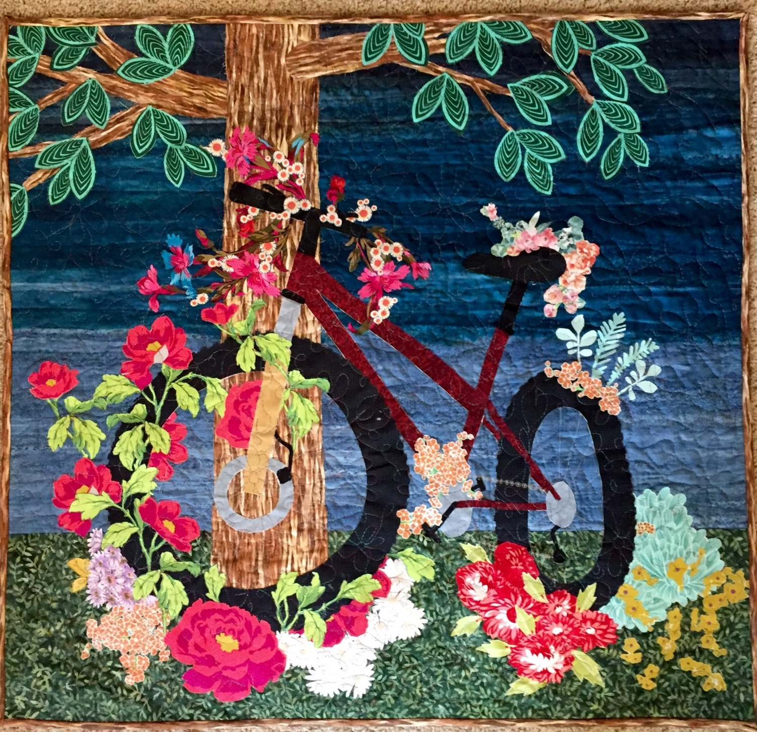 Bike Art Intended For Fabric Wall Art Patterns (View 2 of 15)