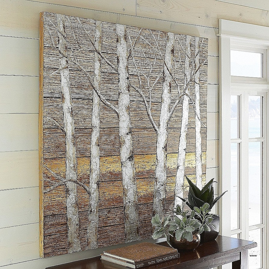 Birch Trees Canvas Wall Art Within Most Recent Wall Art Unique Metallic Canvas Wall Art Hd Wallpaper Photos (View 5 of 15)