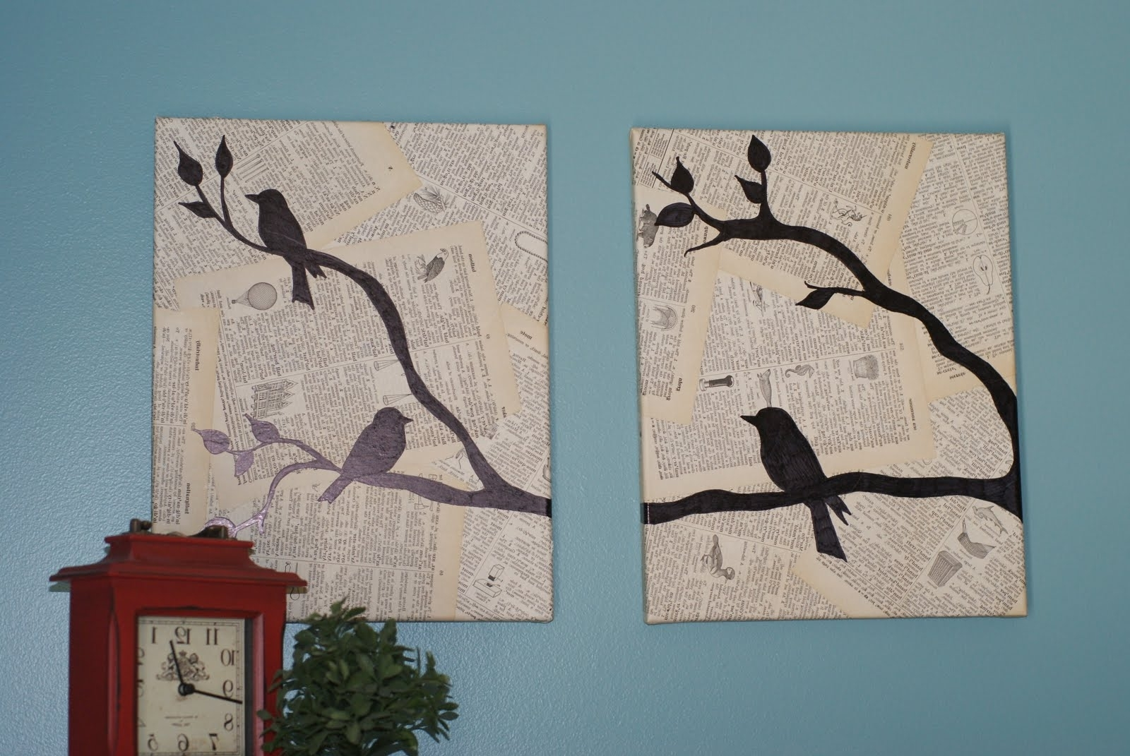 Birds Canvas Wall Art Inside Best And Newest Crafting On A Budget: Diy: Bird Canvas Wall Art (View 1 of 15)
