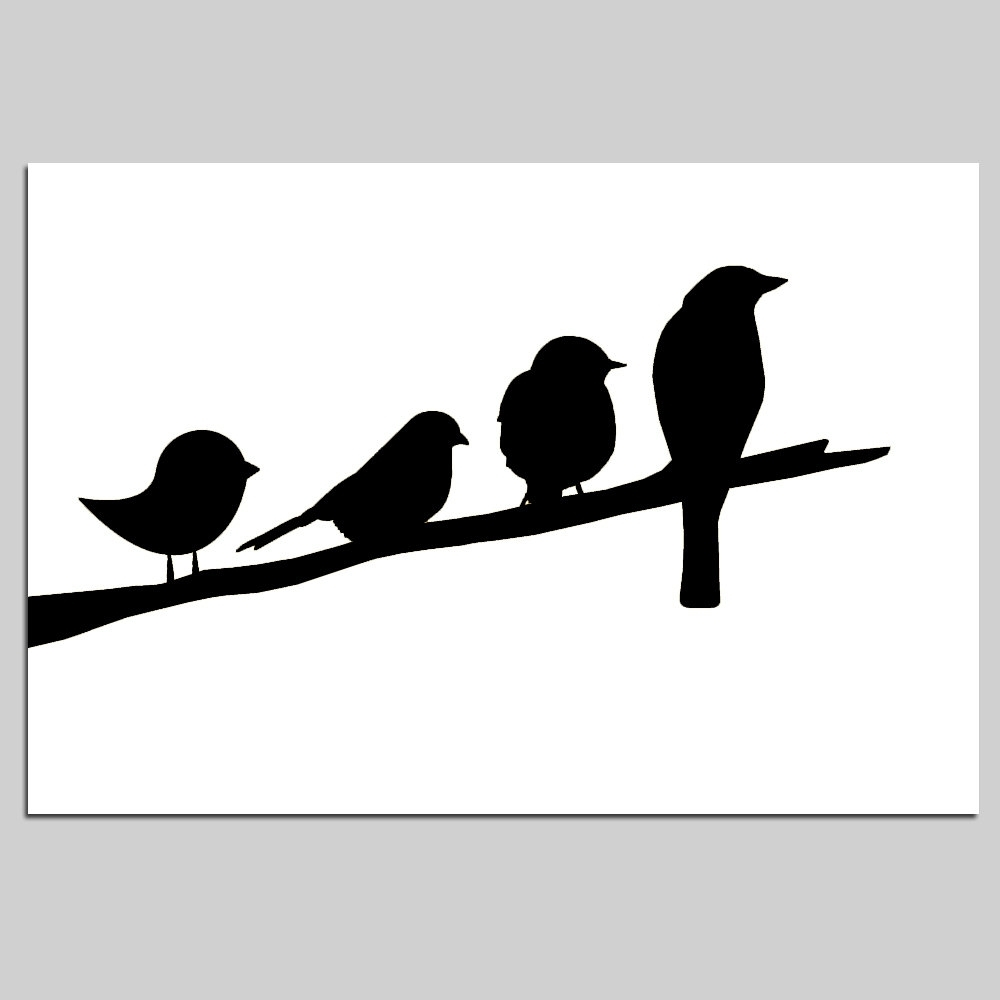 Birds On A Branch Nursery Decor – 11X17 Nursery Art Print – Choose With Well Liked Fabric Animal Silhouette Wall Art (View 2 of 15)