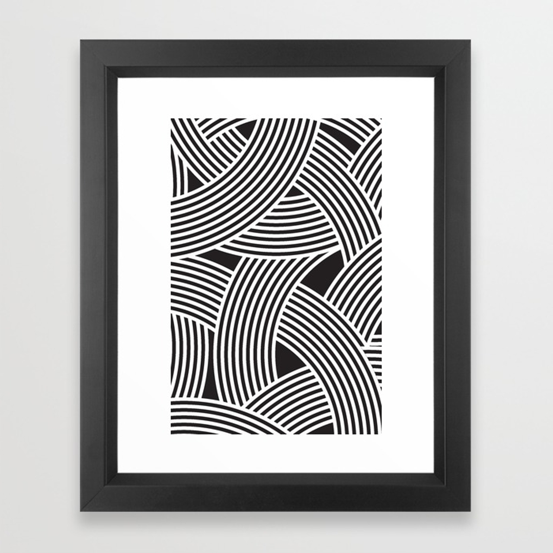 Black And White Framed Art Prints Inside Famous Black White, Graphic Design And Pattern Framed Art Prints (View 2 of 15)