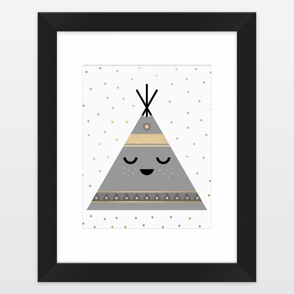 Black Framed Art Prints Throughout Most Popular Little Tipi Framed Art Printelisabethfredriksson On Boomboomprints (View 4 of 15)