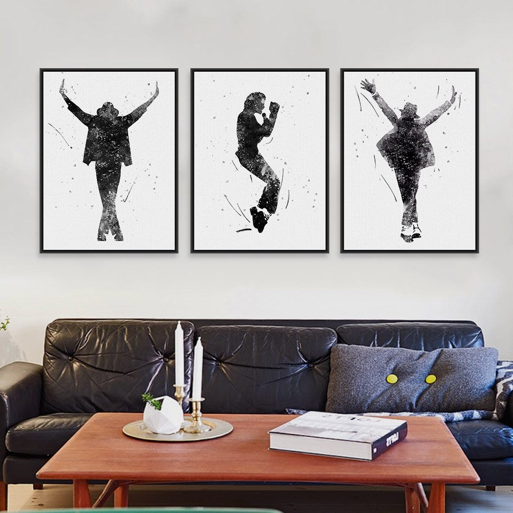 Black White This Is It Music Celebrity Michael Jackson Pop Star With Regard To Most Recently Released Michael Jackson Canvas Wall Art (View 4 of 15)