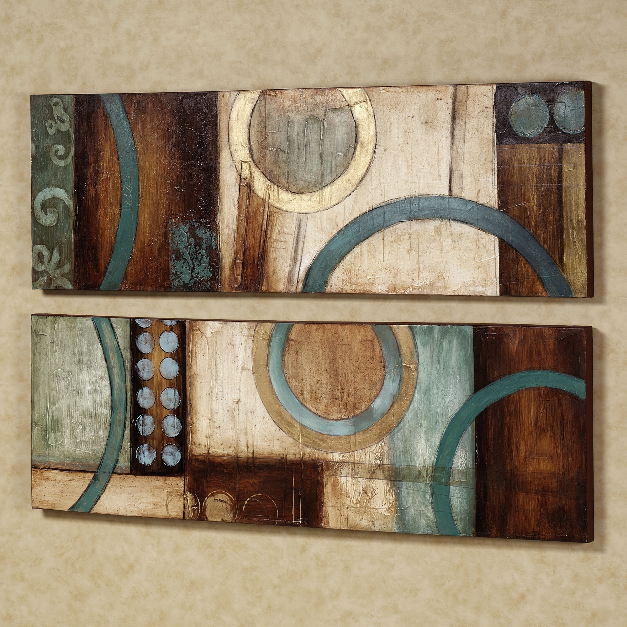 Blue And Brown Canvas Wall Art Pertaining To Recent Wall Art Designs: Wall Art Sets Metal Wall Art Set Metal Wall Art (View 2 of 15)