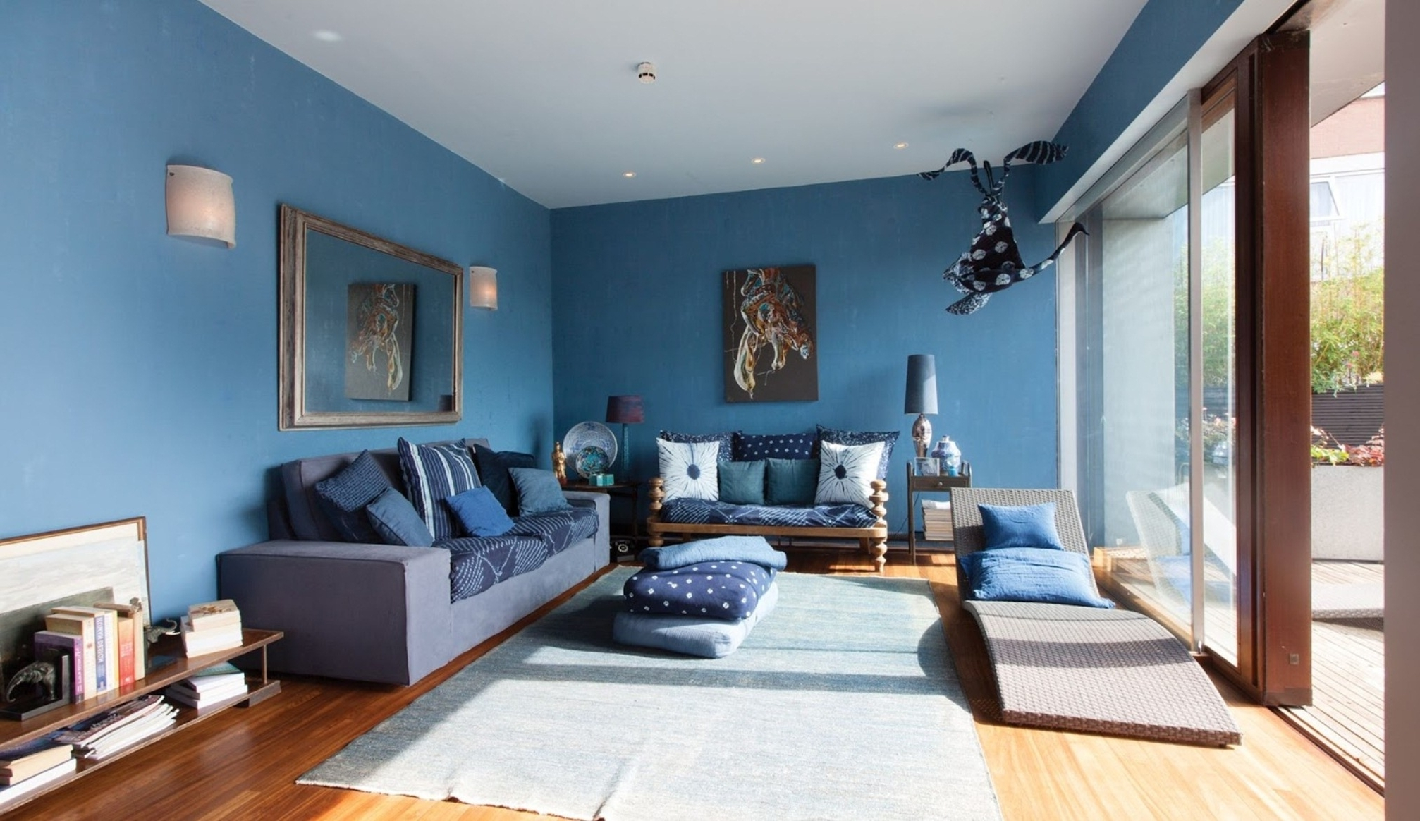 Blue Wall Accents With Regard To Latest Light Blue Accent Wall Accent Wall Ideas For Living Room Wall (View 5 of 15)