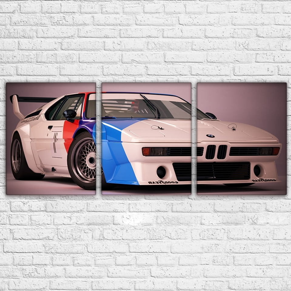Bmw Canvas Wall Art Pertaining To Newest Bmw M1 Procar Sports Car Paintings Modern Canvas Wall Art Poster (View 7 of 15)