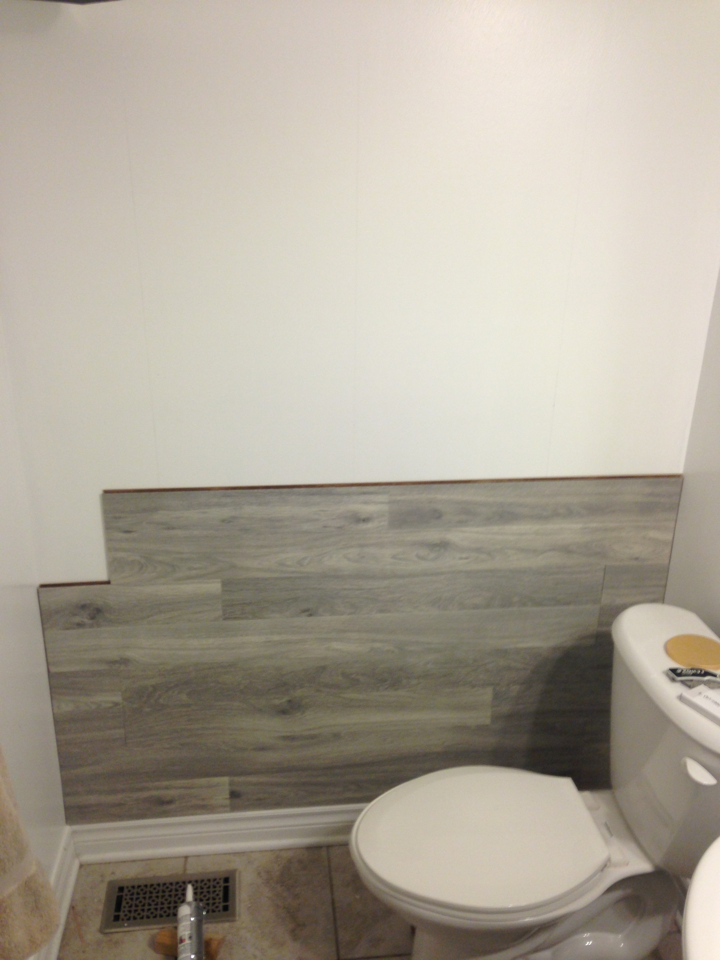 Bored To Floored: Laminate Floor Accent Wall Diy (View 2 of 15)