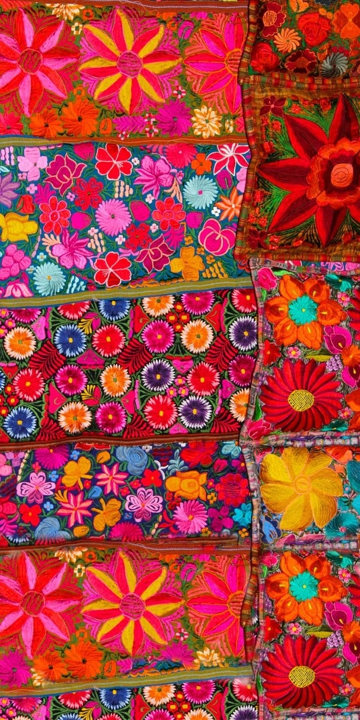 Brilliant Mexican Embroidered Textile (View 2 of 15)