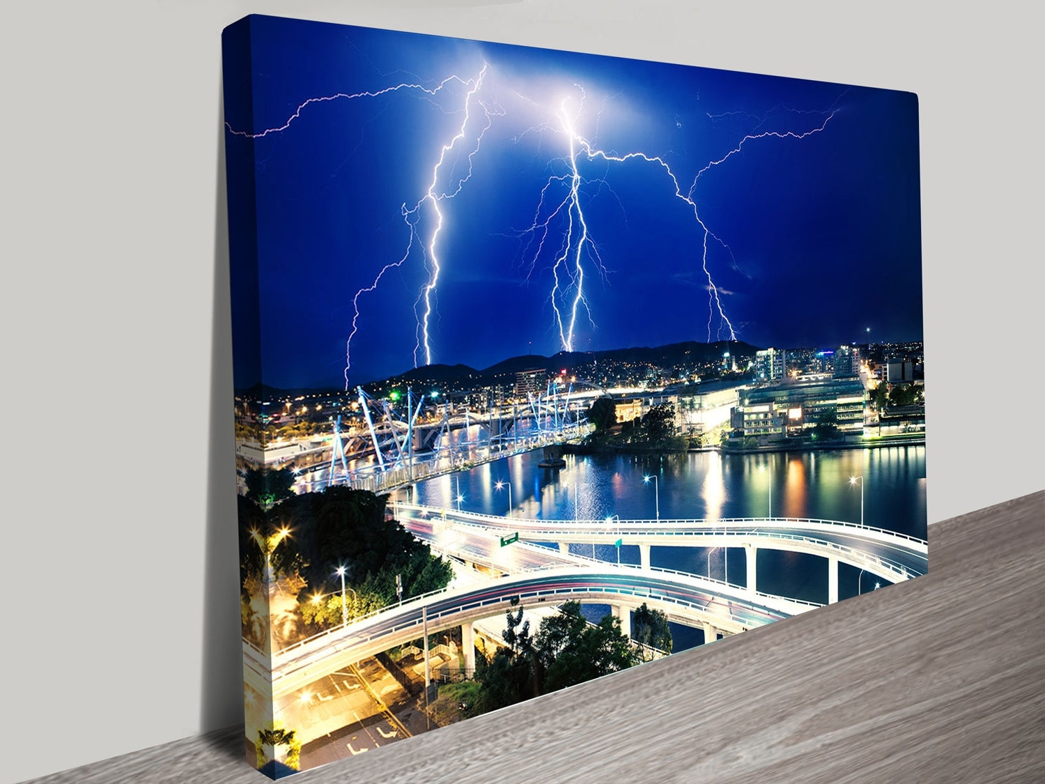 Brisbane Canvas Wall Art With Most Recent Electric Lightning Storm Over Brisbane Canvas Print For Sale Online (Gallery 10 of 15)