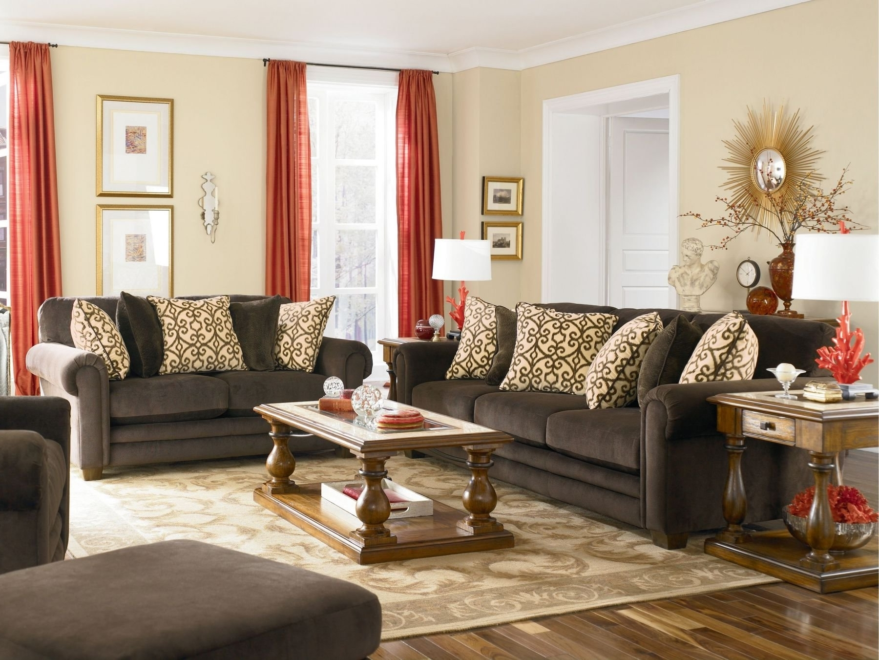 Brown Couch Wall Accents With Current Accent Wall With Brown Furniture Designedbrown Carving (Gallery 4 of 15)
