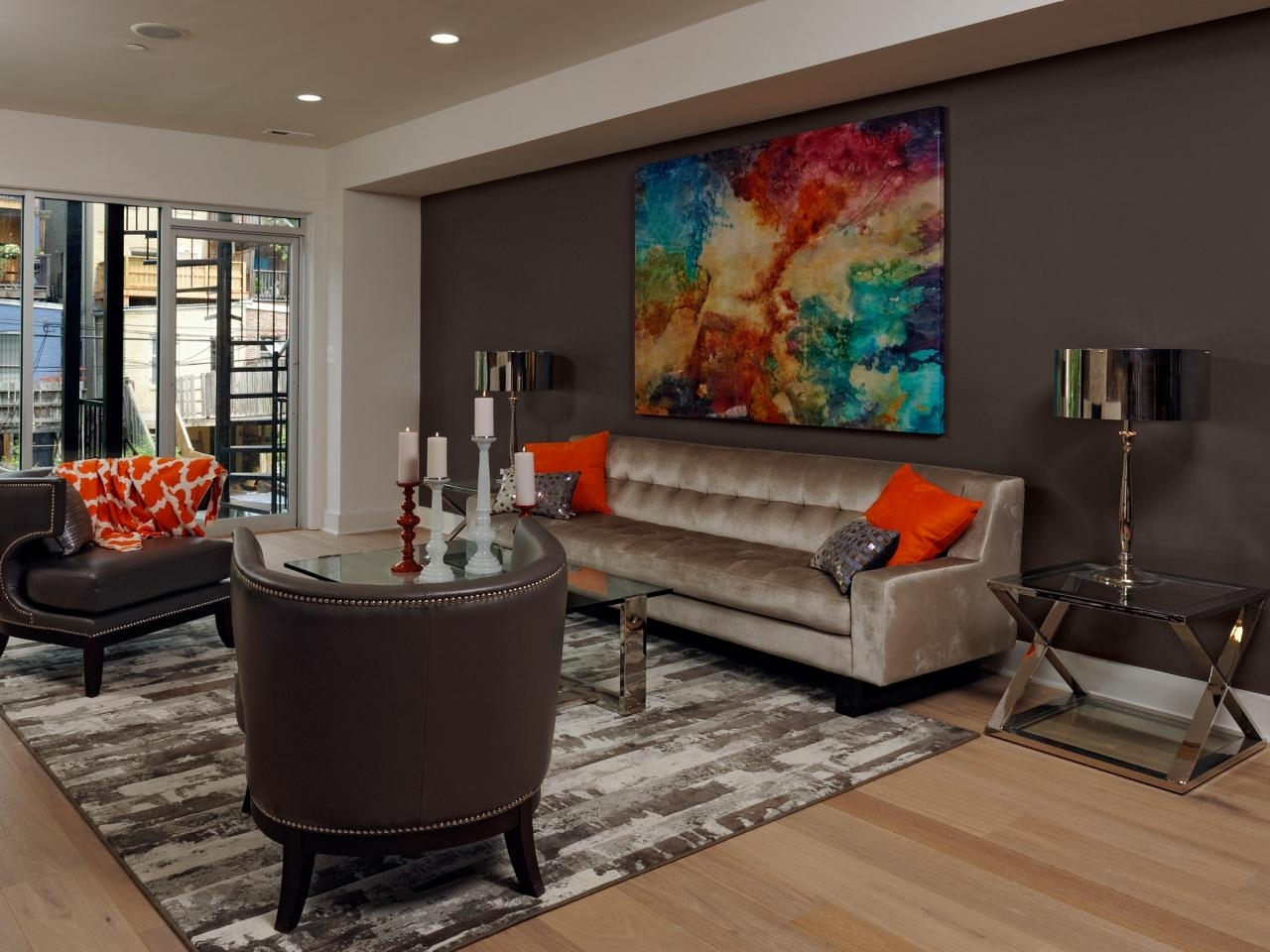 Brown Wall Accents In 2018 Decoration. Paint And Accent Wall Ideas To Transform Your Room (Gallery 1 of 15)