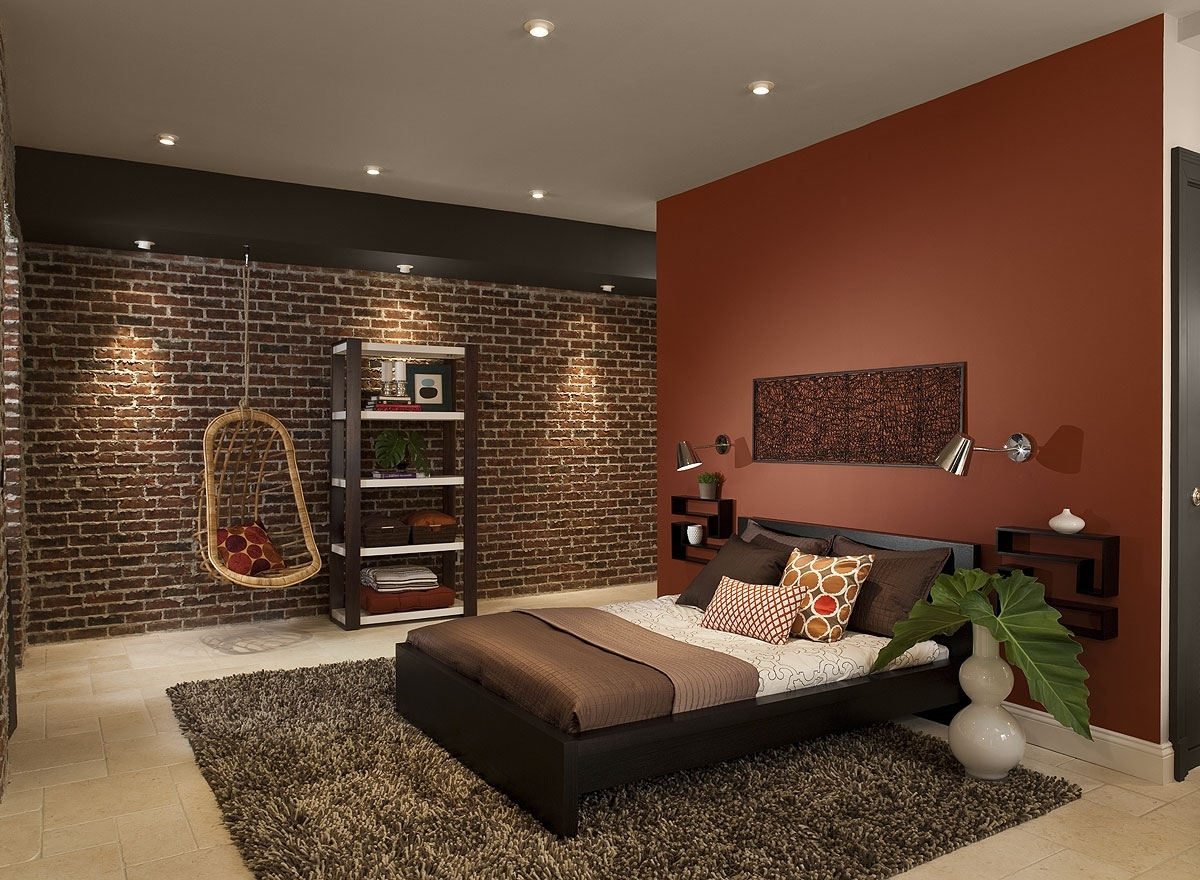 Best 15 of brown wall accents for Brown and red bedroom decorating ideas