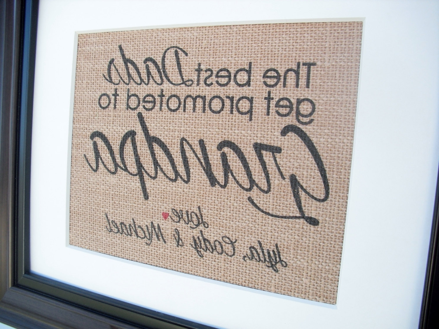 Burlap Fabric Wall Art Inside Most Recent Framed Burlap Print Home Decor Fabric Art Wall Hanging Home (View 11 of 15)