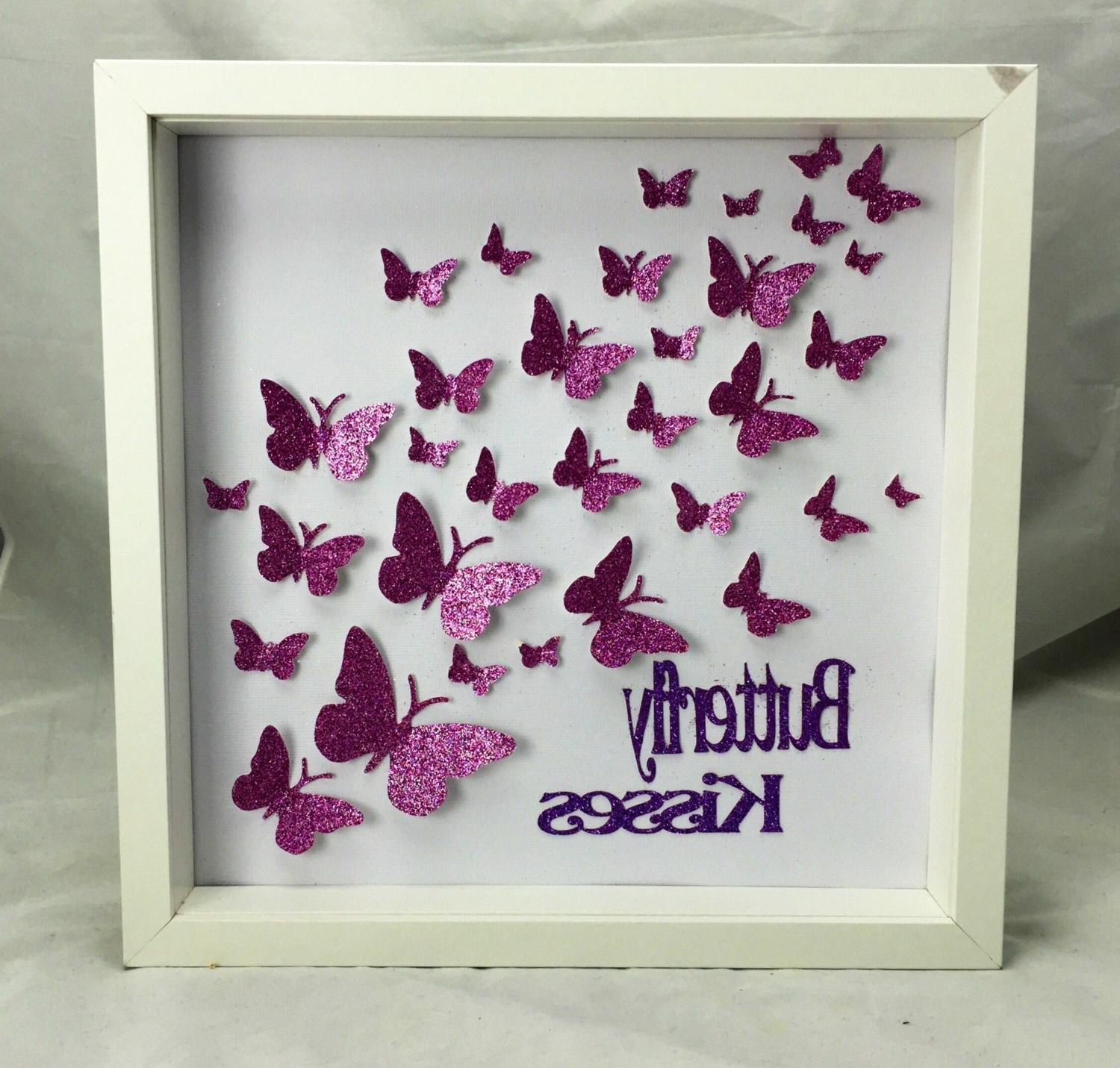 Butterflies Canvas Wall Art Regarding Trendy Paper Butterfly , 3D Butterfly Wall Art, Butterfly Art , Butterfly (View 4 of 15)