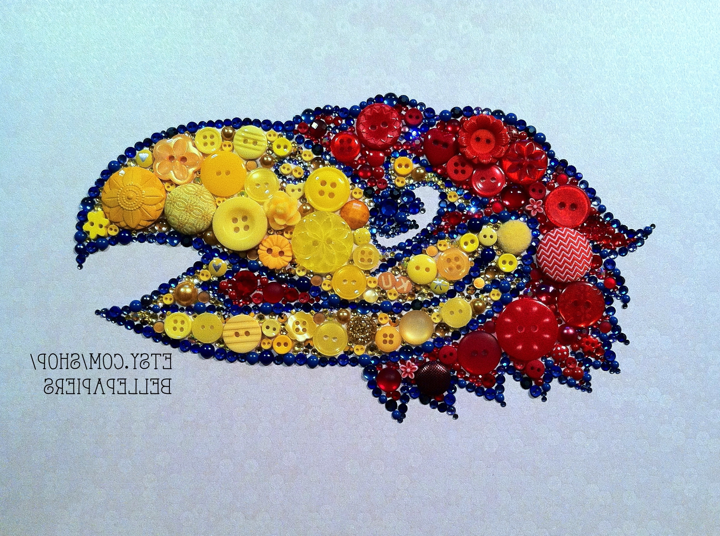 Button Art Kansas Jayhawks! Rock Chalk Jayhawk Ku! (Gallery 5 of 15)