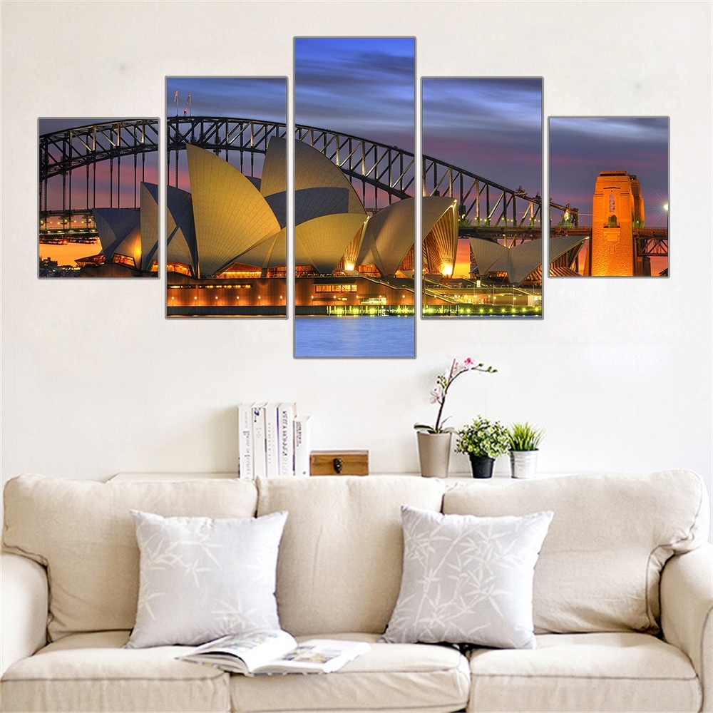 Buy Canvas Wall Art – Sydney, Melbourne In Recent Brisbane Canvas Wall Art (Gallery 15 of 15)