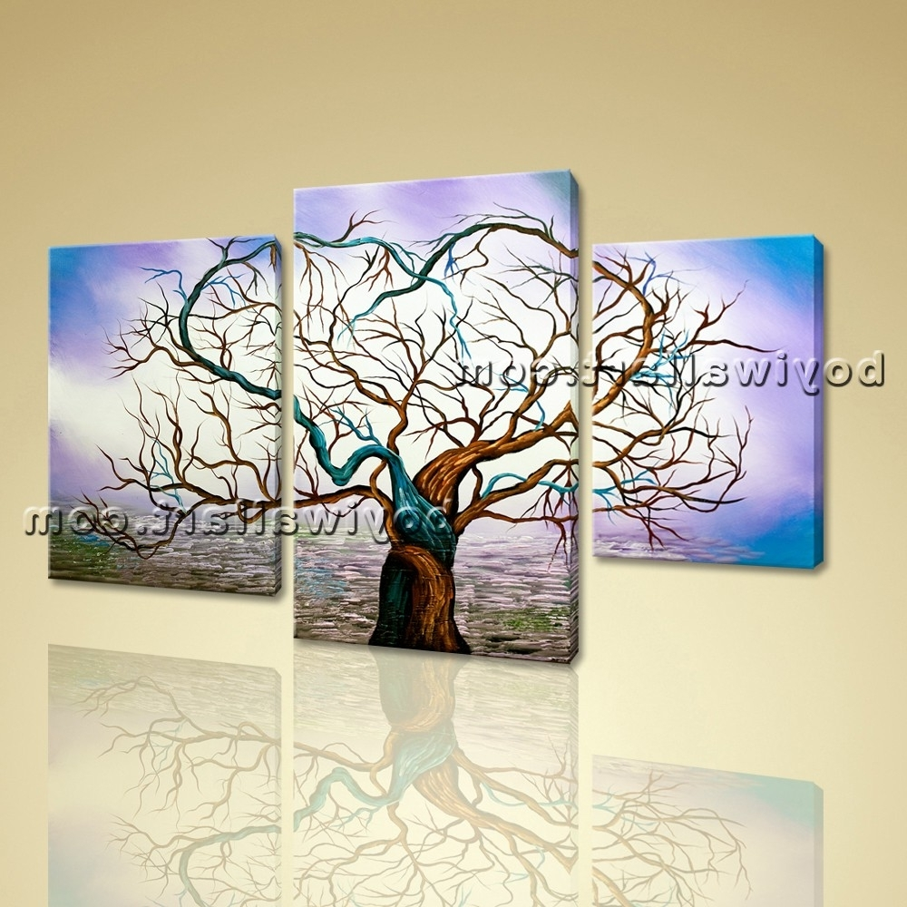 Canvas Prints Modern Abstract Wall Art Heart Love Glows Tree With Well Known Hearts Canvas Wall Art (Gallery 6 of 15)
