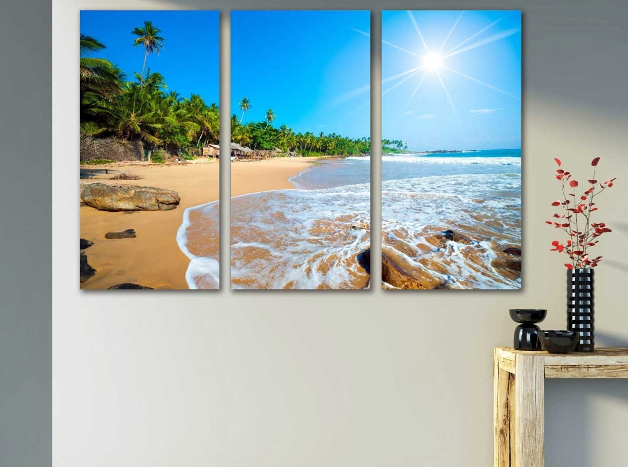 Canvas Wall Art Beach Scenes For Latest Beach Scene Wall Art Canvas Print Ideas (View 6 of 15)