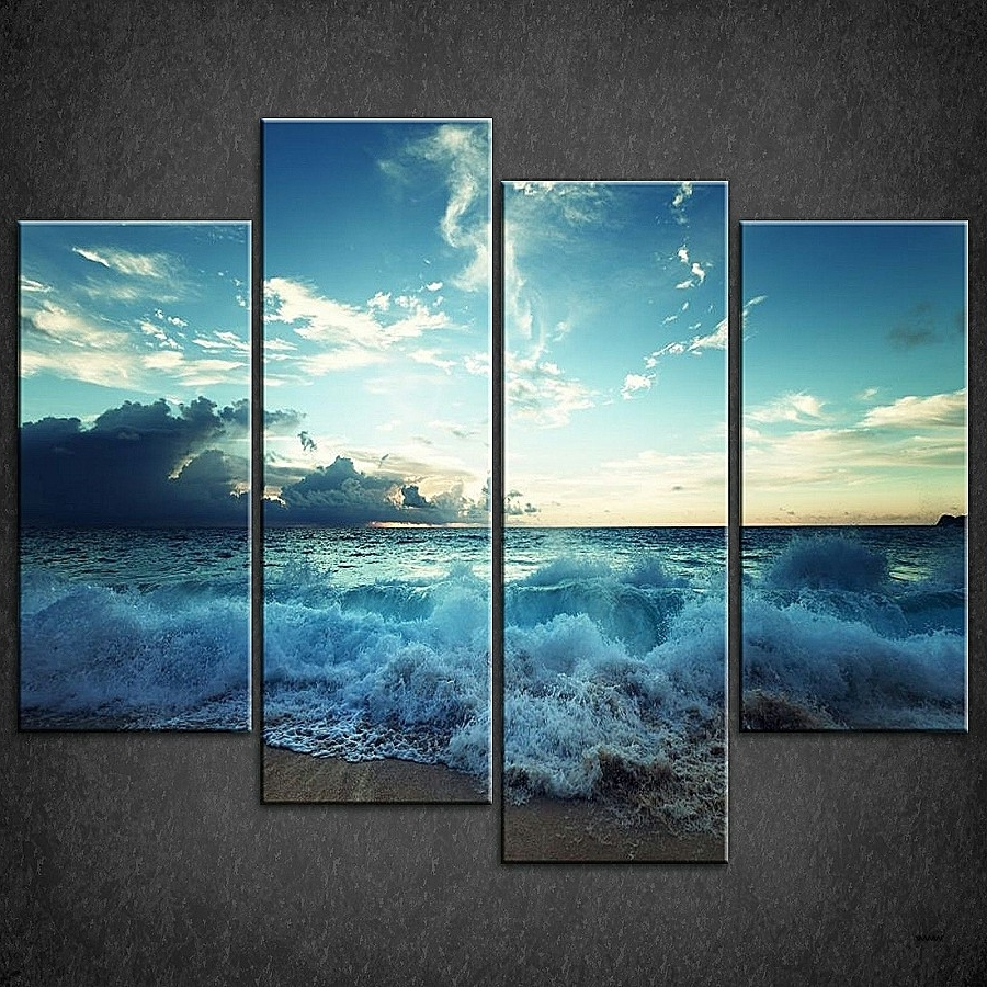 Canvas Wall Art Beach Scenes Within Most Current Wall Art Elegant Wall Art Beach Scenes High Resolution Wallpaper (View 9 of 15)
