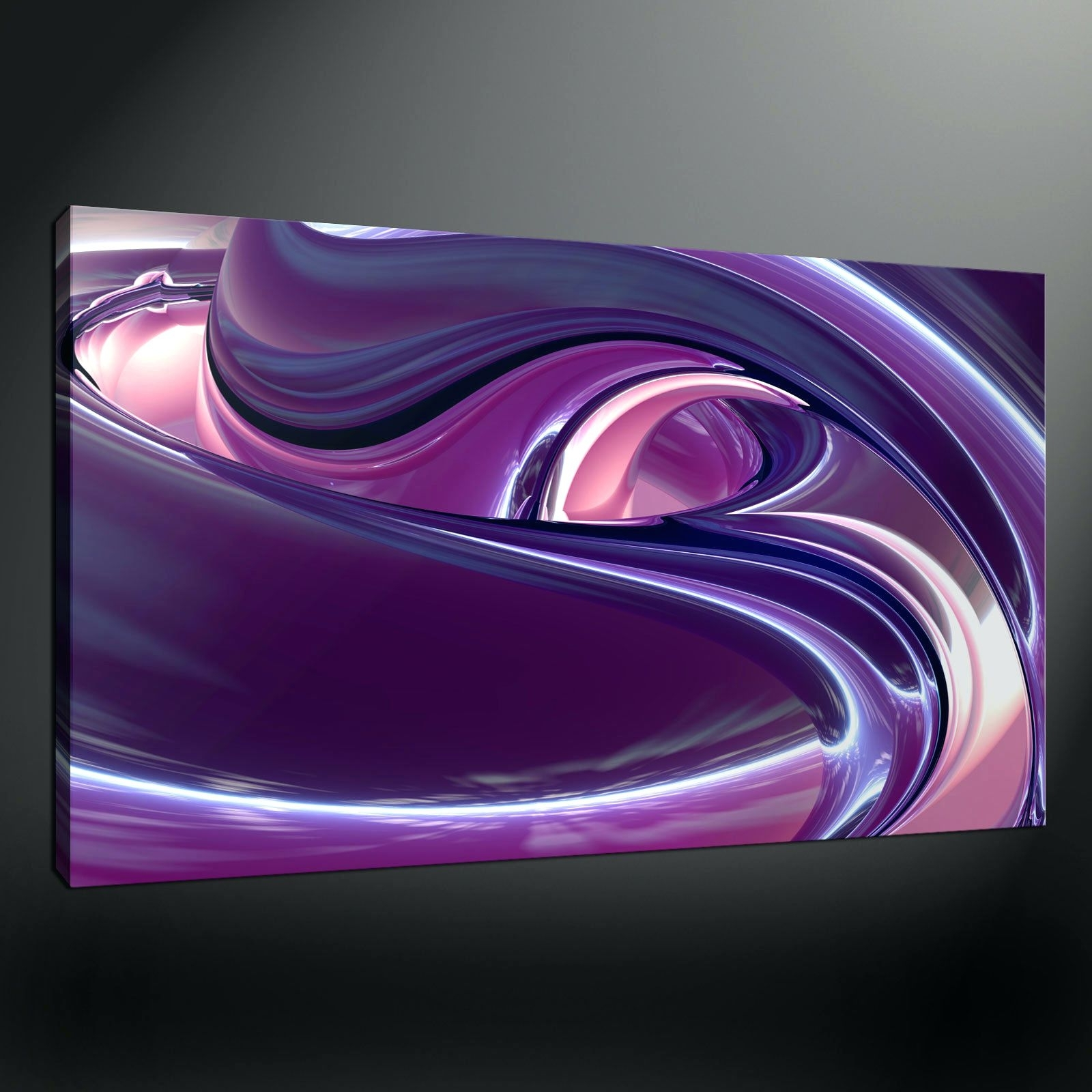Canvas Wall Art In Purple Pertaining To Widely Used Wall Arts ~ Purple Flower Canvas Wall Art Purple Canvas Wall Art (View 4 of 15)