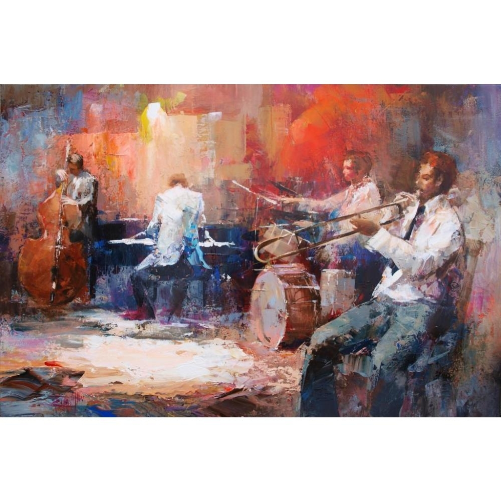 Canvas Wall Art Music Jazz Band Willem Haenraets Canvas Oil With Most Current Jazz Canvas Wall Art (View 3 of 15)