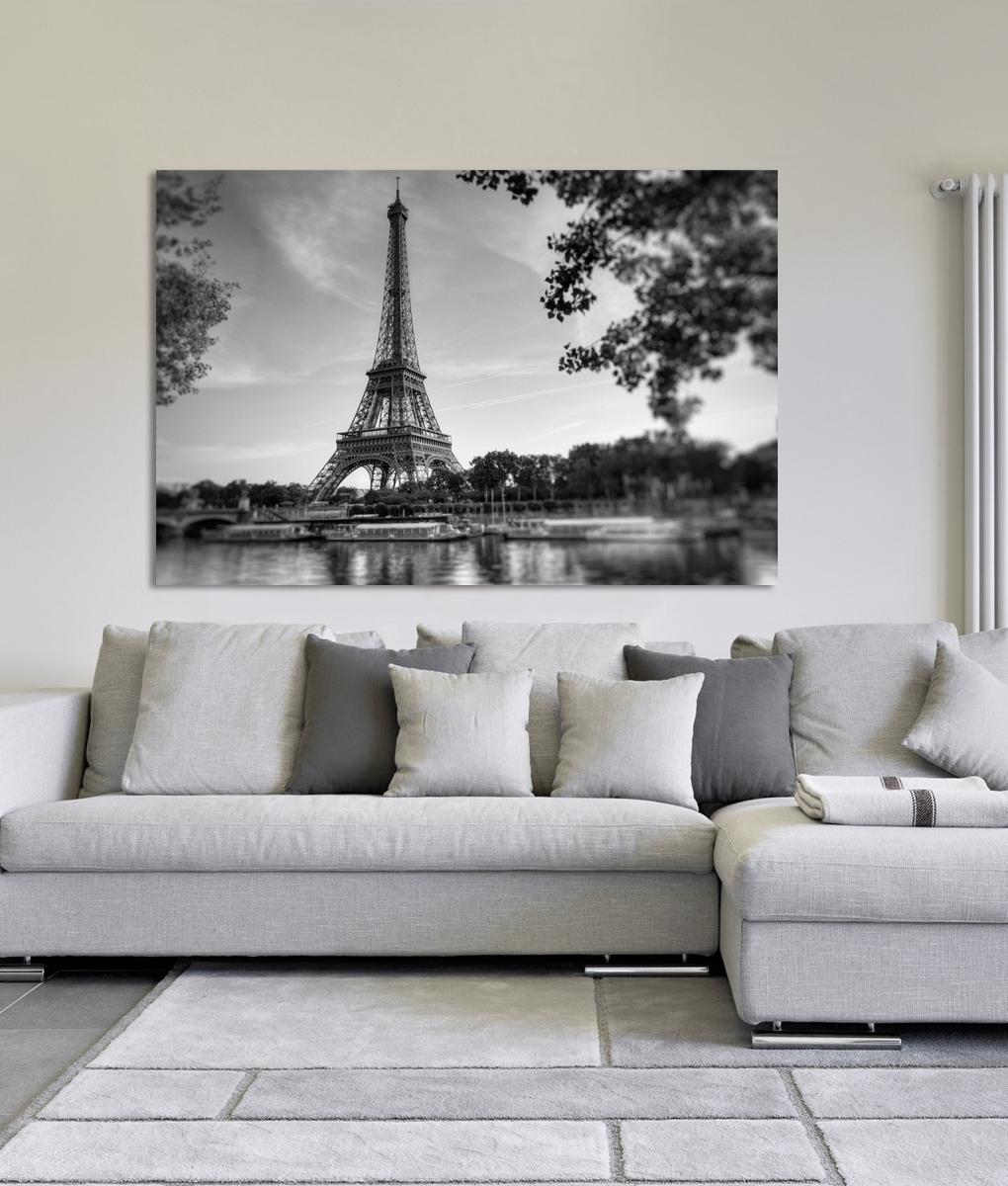 Canvas Wall Art Of Paris Regarding Newest Paris Siene River Eiffel Tower Canvas Print (View 3 of 15)