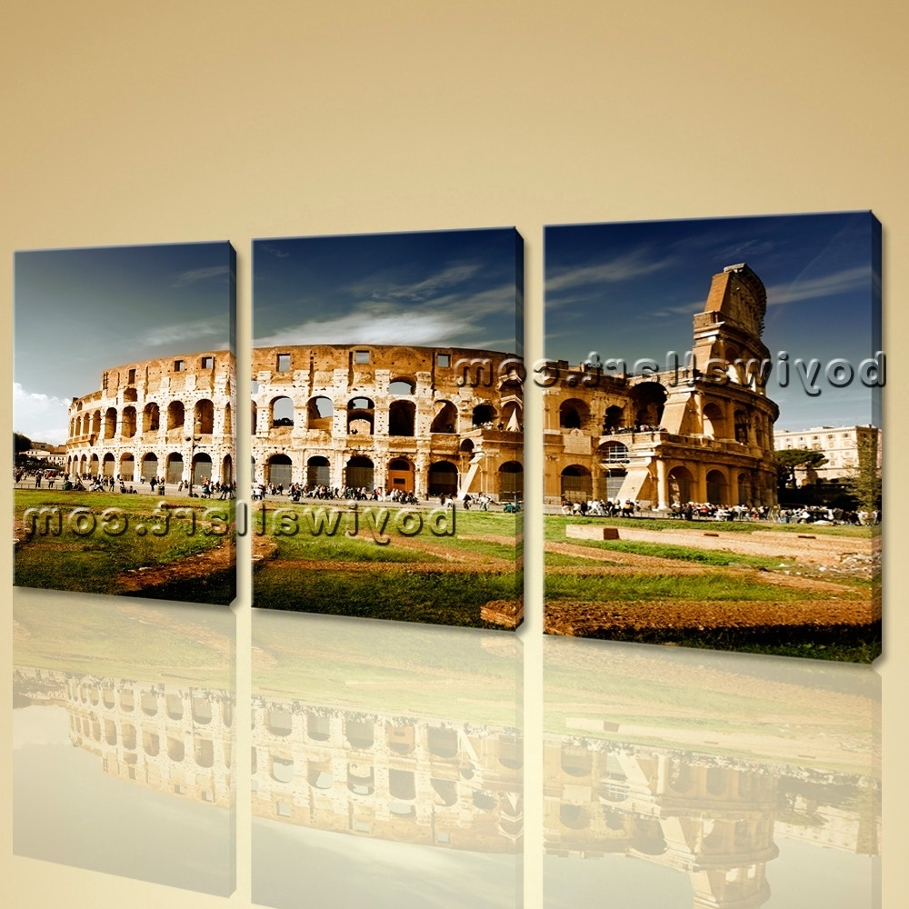 Photos of Canvas Wall Art Of Rome (Showing 5 of 15 Photos)
