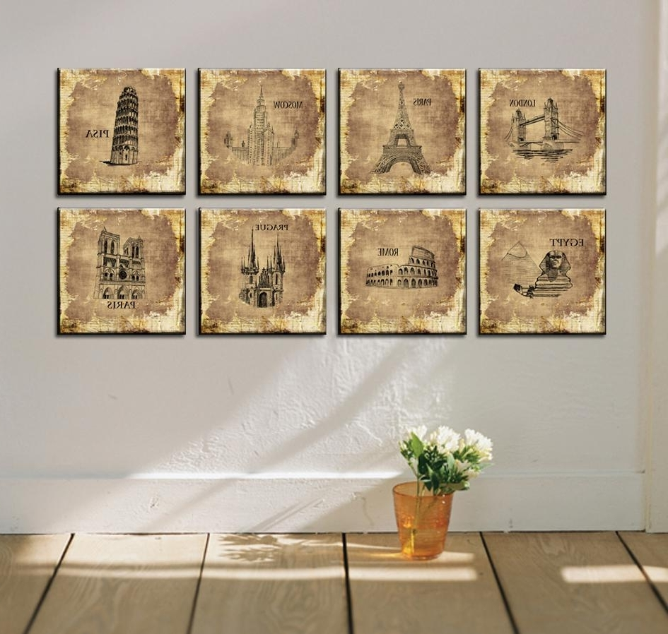 Canvas Wall Art Of Rome Pertaining To Most Current Popular 8 Piece Canvas Wall Art Buy Cheap 8 Piece Canvas Wall Art (View 4 of 15)
